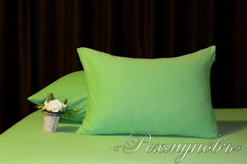 Купить зеленые трикотажные наволочки на молнии оптом