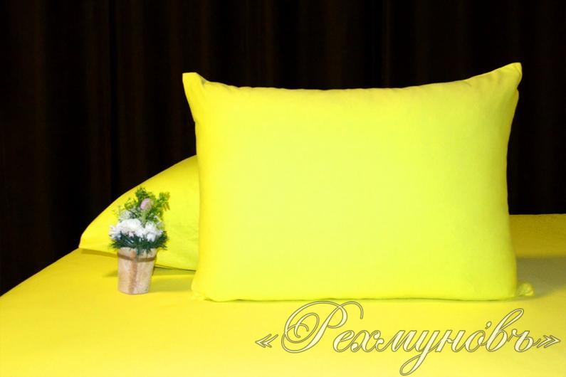 Купить желтые трикотажные наволочки на молнии оптом