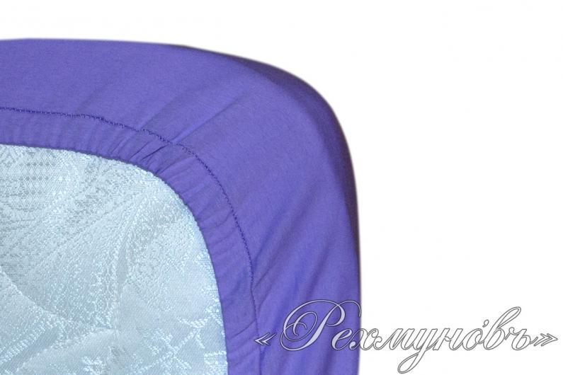 Фиолетовый трикотажный набор (2 наволочки + простынь)