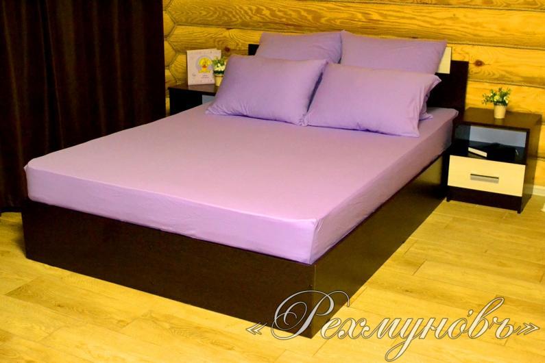Купить Фиолетовый трикотажный набор (2 наволочки + простынь)