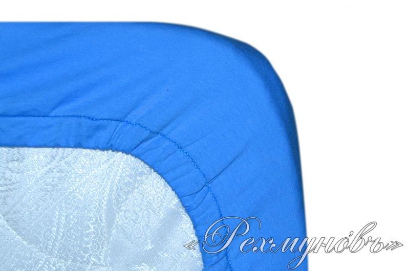 Голубой трикотажный набор (2 наволочки + простынь)
