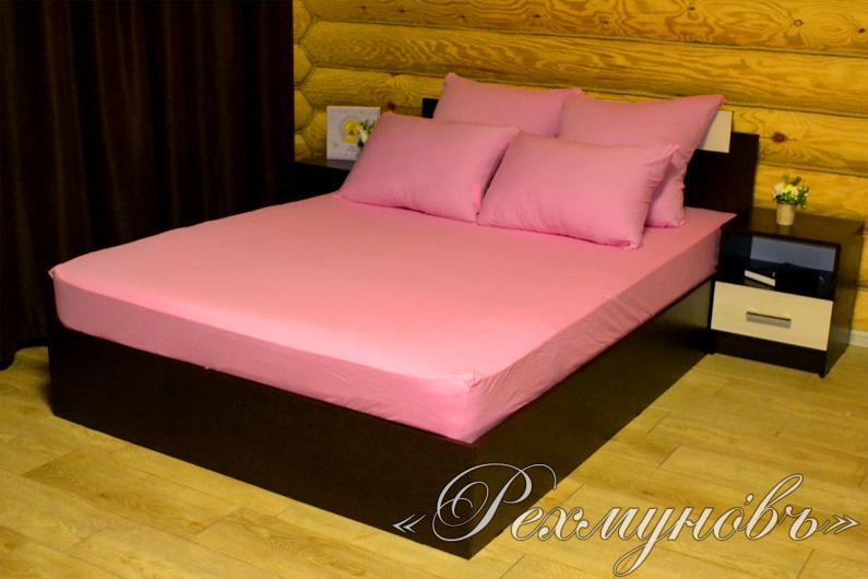 Купить Розовый трикотажный набор (2 наволочки + простынь)