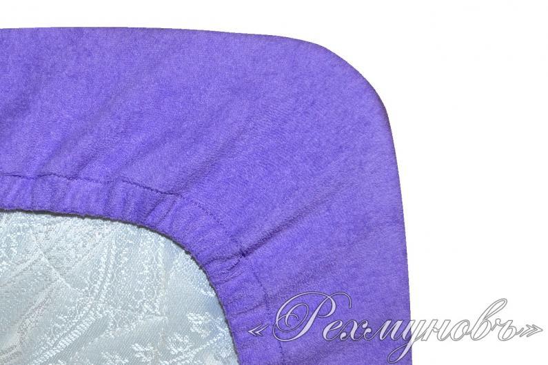 Фиолетовый махровый набор (2 наволочки на молнии + простынь)