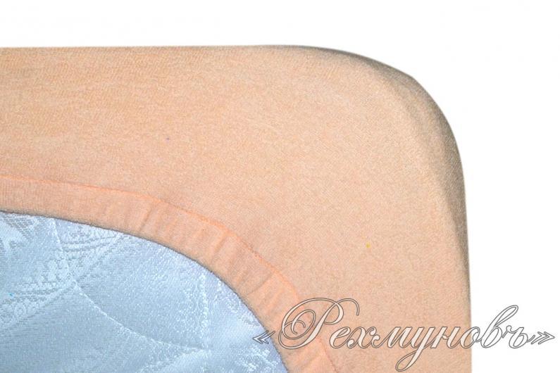 Персиковый махровый набор (2 наволочки на молнии + простынь)