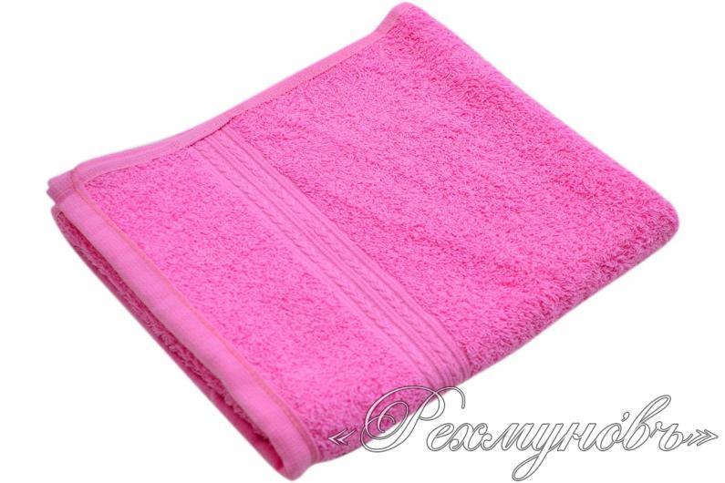 Купить розовое махровое полотенце оптом