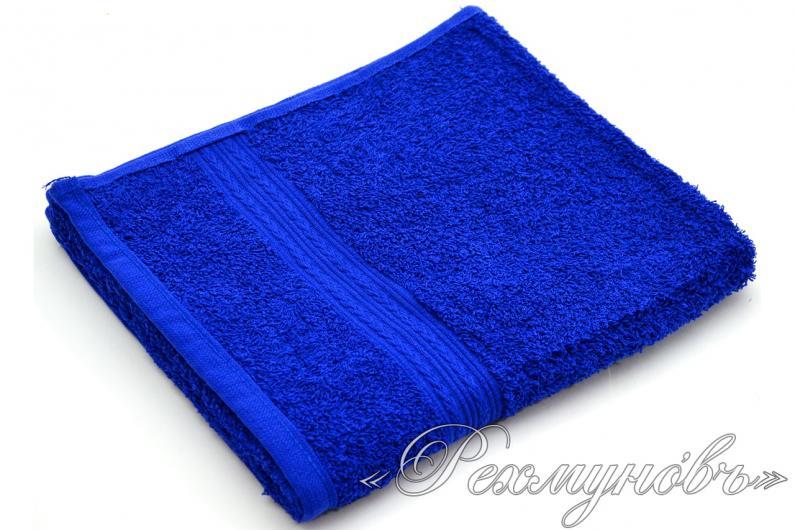 Купить синее махровое полотенце оптом