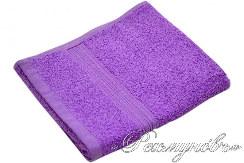 Купить фиолетовое махровое полотенце оптом