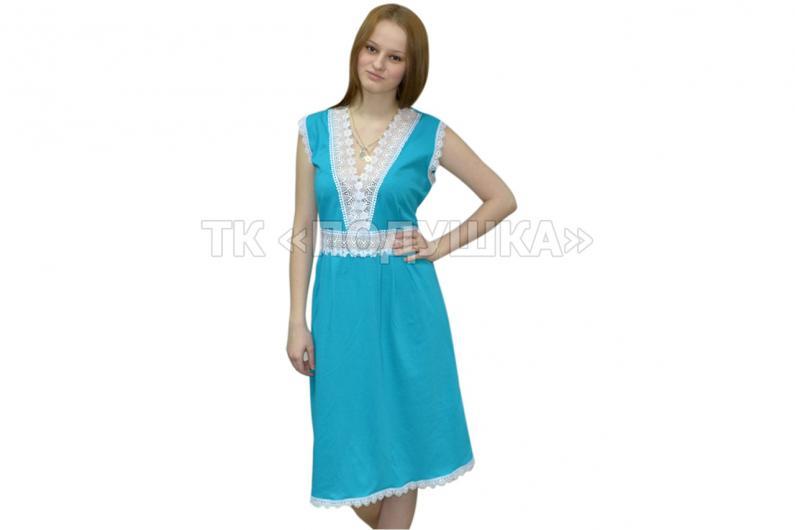 Купить бирюзовую ночную сорочку «Ирина»