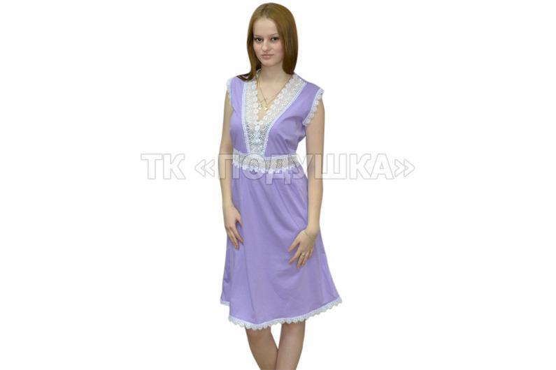 Купить фиолетовую ночную сорочку «Ирина»