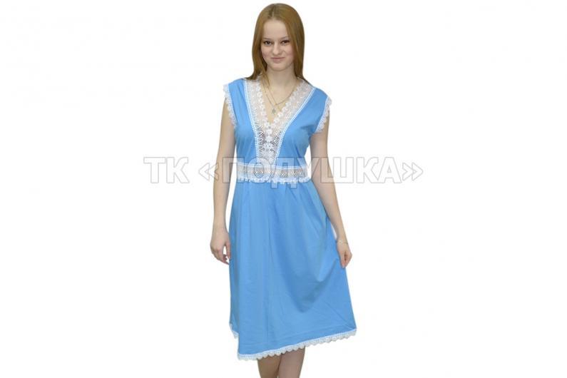 Купить голубую ночную сорочку «Ирина»