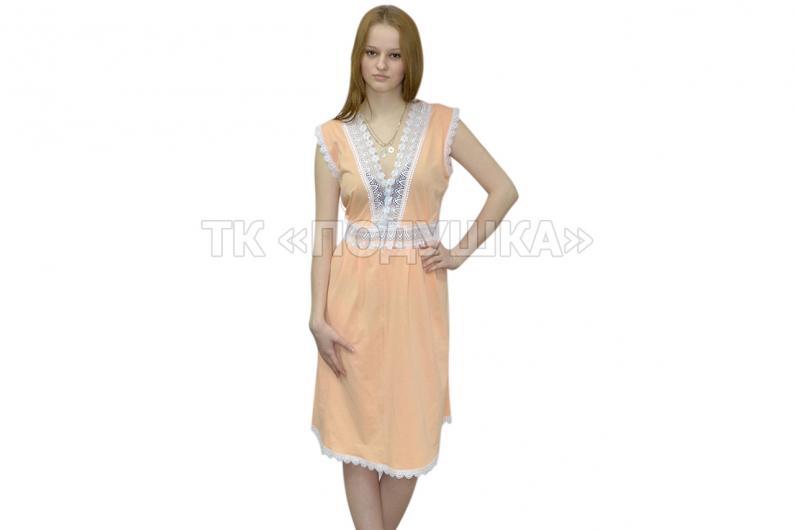 Купить персиковую ночную сорочку «Ирина»