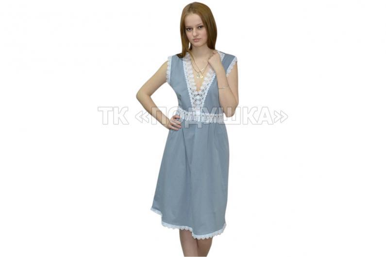 Купить серую ночную сорочку «Ирина»