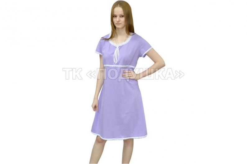 Купить фиолетовую ночную сорочку «Марина»