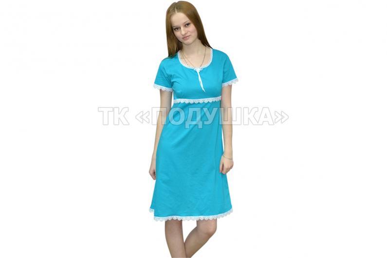 Купить бирюзовую ночную сорочку «Марина»