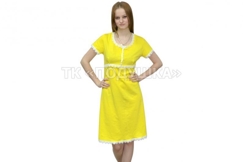 Купить желтую ночную сорочку «Марина»