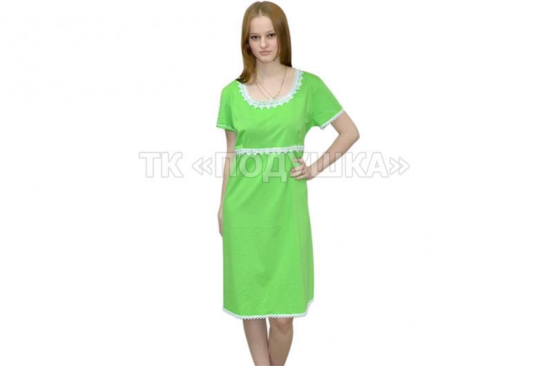Купить зеленая ночная сорочка «Марина» отпом