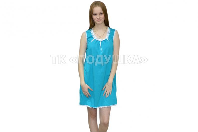 Купить бирюзовую ночную сорочку «Татьяна»