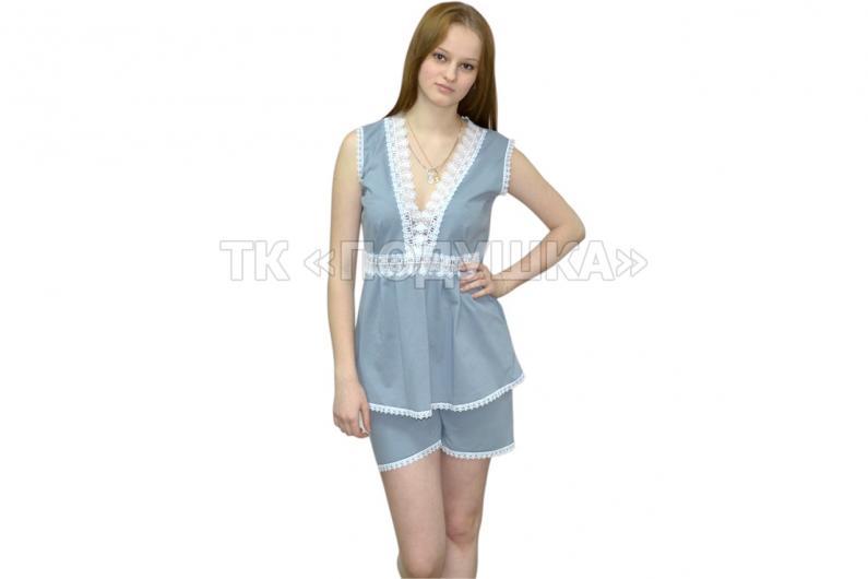 Купить серую ночную пижаму «Модница»