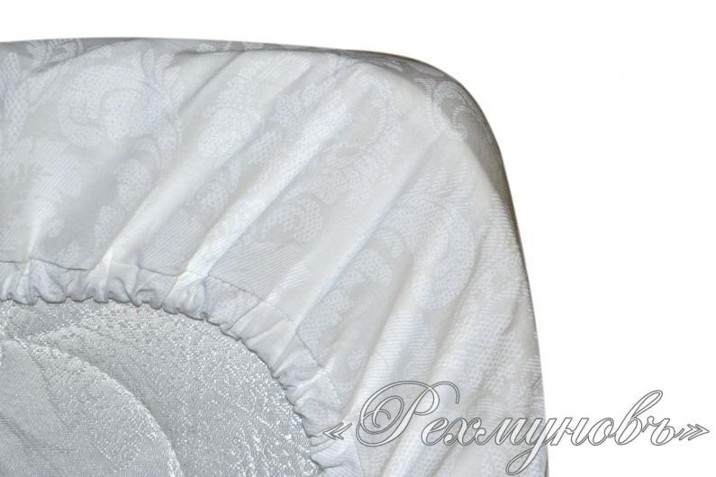 Поплиновая простынь на резинке «Византия»
