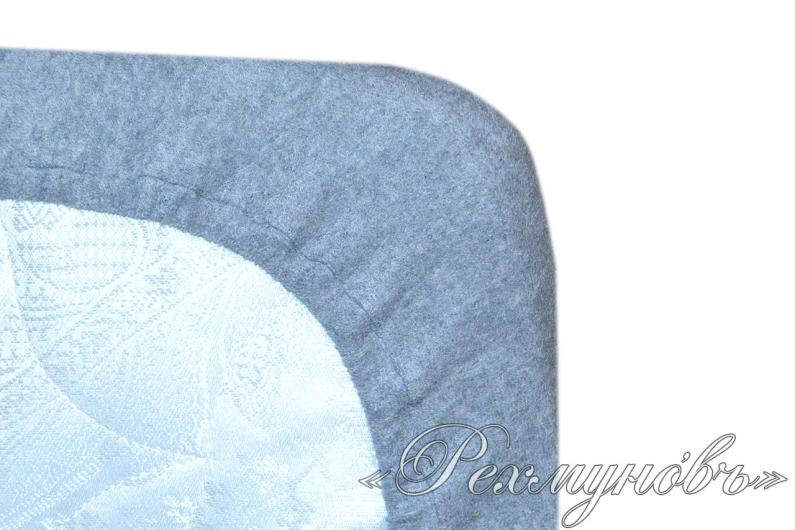 Меланжевый махровый набор (2 наволочки на молнии + простынь)