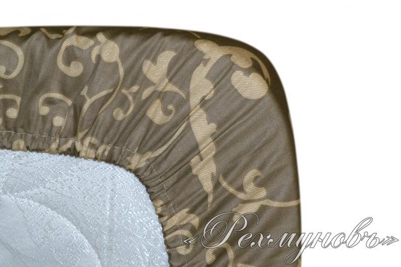 Простынь сатин на резинке «Вирджиния 2 - основа»