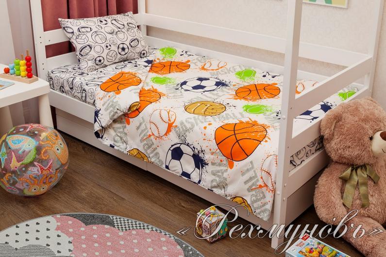 Купить постельное белье бязь «Мячи» оптом